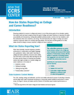 How Are States Reporting on College and Career Readiness