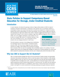 State Policies to Support Competency-Based Education for Overage, Under-Credited Students